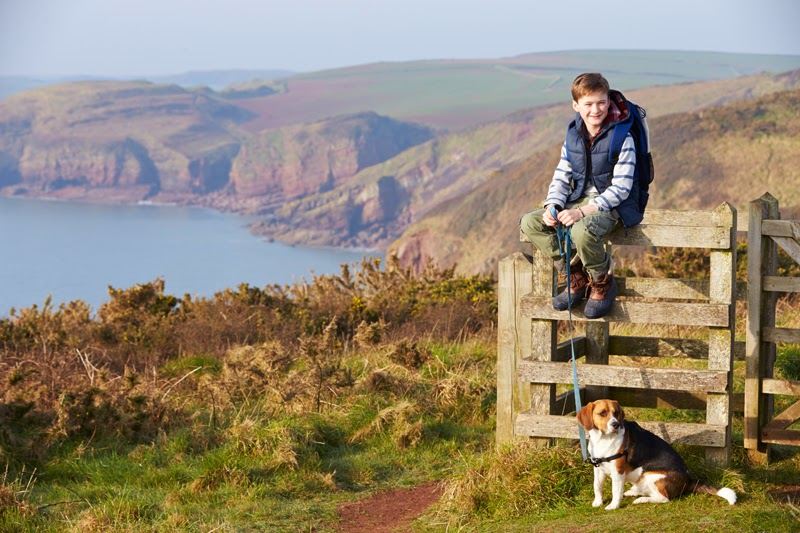 A dog and its owner out for a walk in the English countryside. Photo: Monkey Business Images / Shutterstock