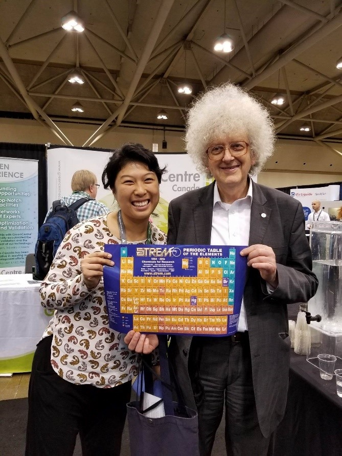 Sir Martyn Poliakoff and Connie Tang