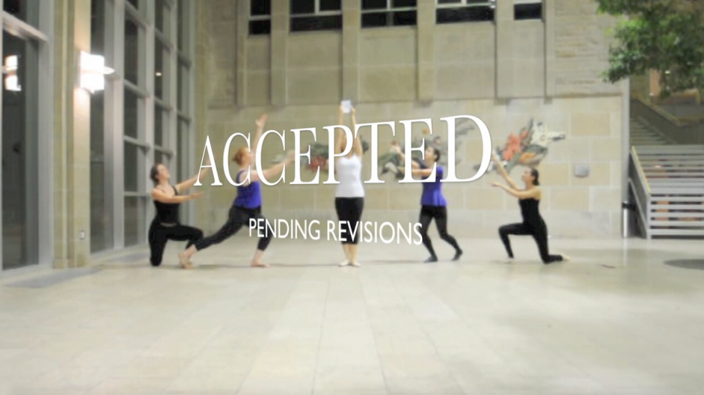 "Still from ""Dance Your PhD"", Katherine Griffiths (PhD), Queen's U, @katietgriffiths"