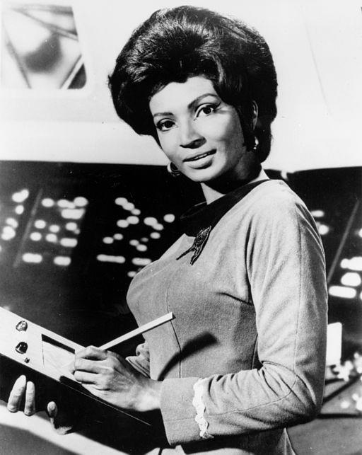 Nichelle Nichols, who played Uhura in the original series, later became a NASA recruiter. (Wikimedia Commons).