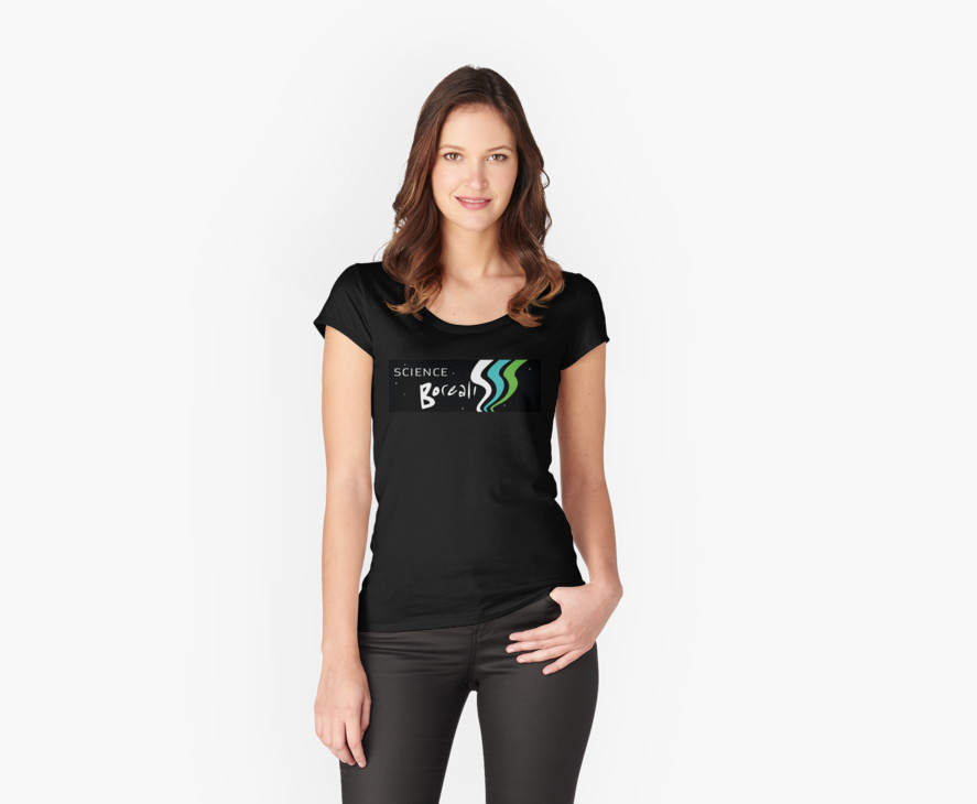 Women's fitted scoop T