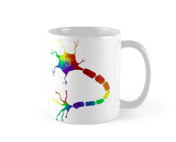 SciPride neuron mug by Hannah Brazeau