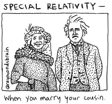 special relativity cartoon