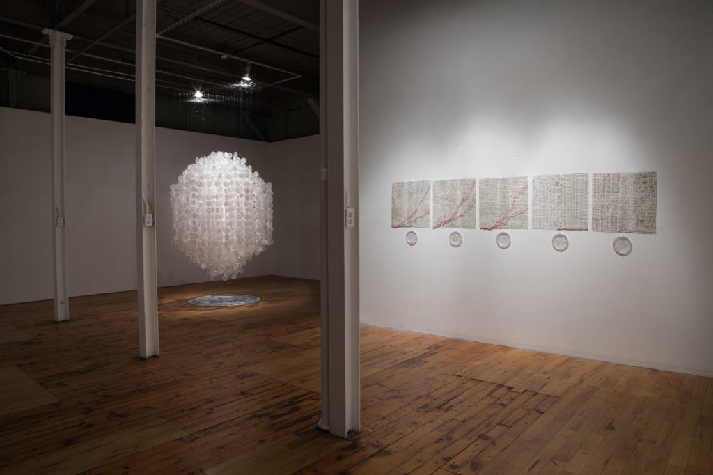 Shiver & Ebola Graphs installation by Elaine Whittaker. Photo taken by David Williams