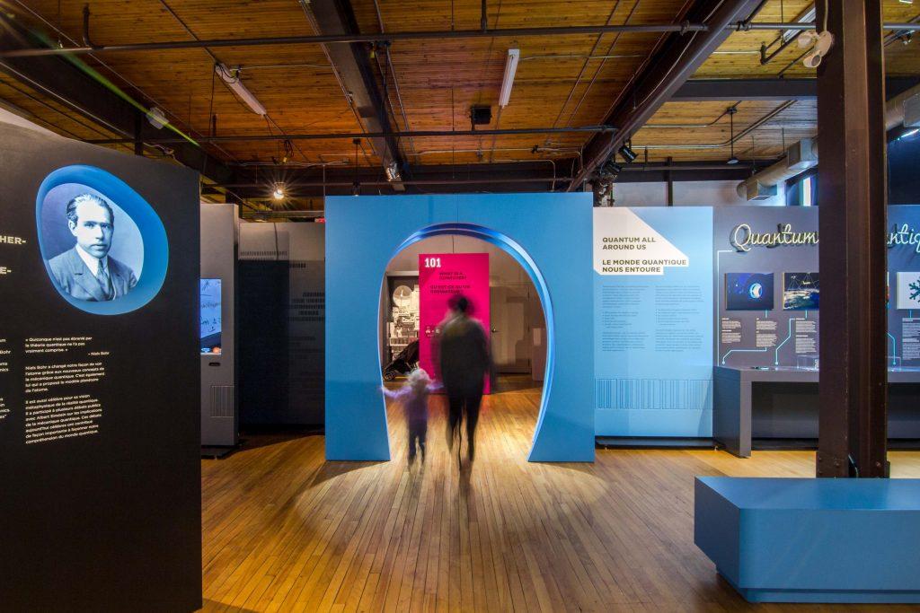 Visitors enjoying the Quantum exhibit