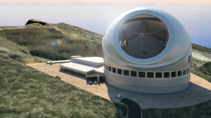 """Calotte"" enclosure for the Thirty Meter Telescope, rendered here by M3 Engineering"