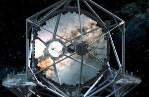 The TMT mirror is segmented and comprises 492 hexagonal segments. Credit: TMT International Observatory