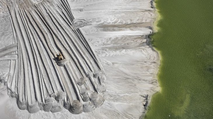 Phosphorus tailings pond, near Lakeland, Florida. Image courtesy of the Nicholas Metivier Gallery