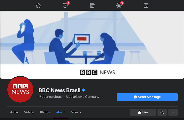 Screenshot taken April 2, 2021 from BBC News Brasil's Facebook Page