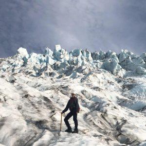 Clara Deck on a glacier
