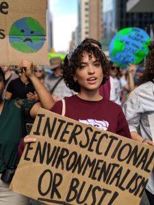 Madisson McKone Earth Day march